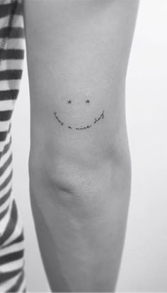 Have a Nice Day Smiley Arm Tattoo
