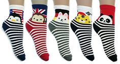 JJMax Women's Multinational Flags and Animal Characters High Ankle Socks Set JJMax http://www.amazon.com/dp/B00PZA7POE/ref=cm_sw_r_pi_dp_hE-Jub102AMDJ