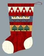 """Stocking with Paper Pieced Rows 