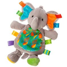 Mary Meyer Taggies Little Leaf Elephant Lovey Soft Toy - Roby's Hallmark Best Baby Gifts, Unique Baby Gifts, Custom Printed Fabric, Musical Toys, Sensory Toys, Infant Sensory, Baby Rattle, Toddler Toys, Baby Love