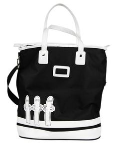 A black and white Hattifatteners retro bag. Size 17 x 32 x 52 cm. Moomin Shop, Creative Bag, Spark Up, Tove Jansson, Diaper Bag, Black And White, Retro, My Style, Gifts
