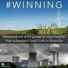 Solar power is not far behind