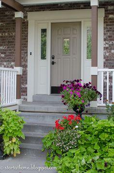 Complete tutorial on how to update those builder grade doors and create a custom front door!