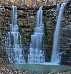 Triple Falls near Kyle's Landing east of Ponca, Arkansas