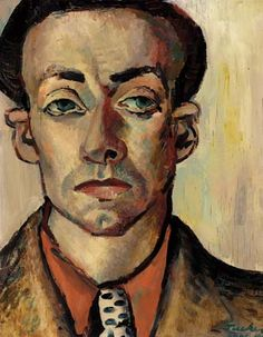 "ALBERT TUCKER - Self Portrait 1940, Australian part of ""Angry Penguins"""