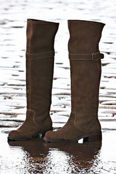 Anthropologie Higher & Higher Boots Sz 5, 6.5, 7, Dark Brown Suede, Lucky Penny  #LuckyPenny #Comfort