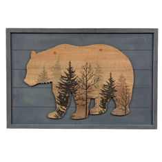 Wood Bear Lodge Sign