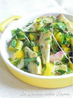 insalata carciofi peperoni senape