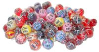 """Original Gourmet Assorted Lollipops. Each pop is individually wrapped. Wrapper includes the following writing: """"Original Gourmet"""", Barcode, Kosher Symbol, Net Weight and when the wrapper is opened it lists the ingredients. This bulk case of gourmet lollipops contains 60 lollipops."""