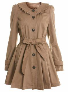 Mink Collarless Frill Mac - Vintage Style - Clothing - Miss Selfridge ($50-100) - Svpply