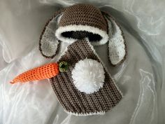 Set+Hut+und+Windelhosen+Kaninchen+mit+Wurzel+von+Knits+for+Kids+auf+DaWanda.com