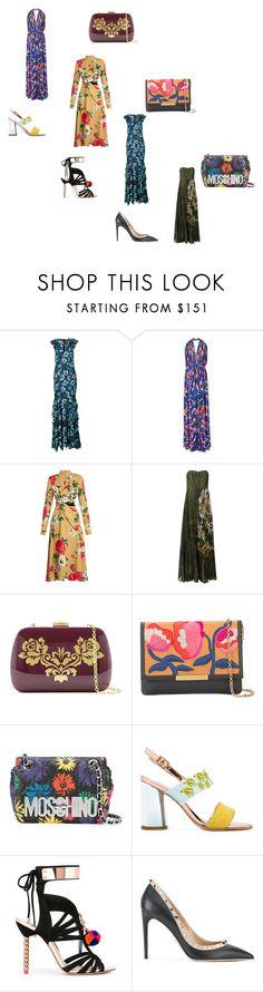 """Fashion for all"" by jamuna-kaalla ❤ liked on Polyvore featuring ZAC Zac Posen, Emilio Pucci, MSGM, Valentino, Serpui, Lizzie Fortunato Jewels, Moschino, Leo Studio Design, Sophia Webster and vintage"