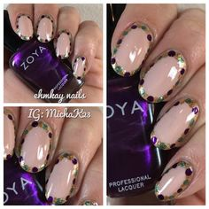 ehmkay nails: Mardi Gras Nail Art: Show Us Your Beads!