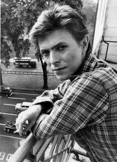 Bowie B&W Overlooking London Street