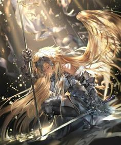 Fantasy characters, anime characters, game of thrones characters, fictional characters, angel warrior Fate Stay Night, Anime Fantasy, Fantasy Art, Luna Anime, Gilgamesh Anime, Jeane D Arc, Fate Apocrypha Ruler, Joan Of Arc Fate, Anime Pictures
