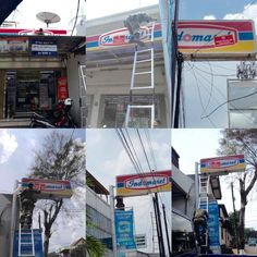 """Pemasangan Sticker """"objek pajak ini belum melunasi kewajiban pajak daerah"""" pada reklame Indomaret di wilayah Duren Sawit"""