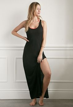 Ribbed Racerback Maxi Nightdress | Forever 21 - 2002247602