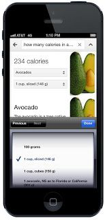 Google search is rolling out nutrition information on more than 1,000 fruits, vegetables, meats and meals.