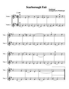 Scarborough Fair For Two Violins http://www.rozannasviolnis.com
