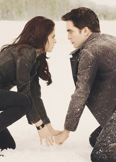 When they find each other's hand in the snow and know everything will be okay.