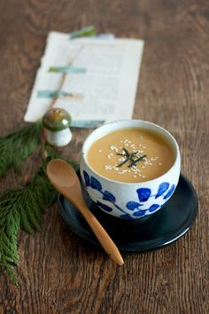 Treat yourself to Butternut Squash and Chestnut Miso Soup using this healthy fall recipe.