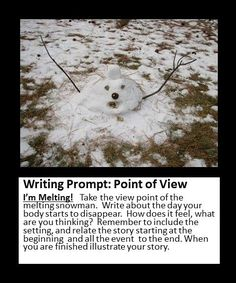 Point of view writing prompt