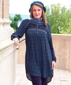 Another great find on #zulily! Navy Sway Dot Dress - Women by April Cornell #zulilyfinds