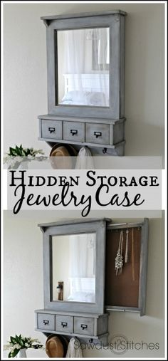 Diy Furniture Secret Compartment Jewelry Case – Sawdust 2 Stitches -Read More – Furniture Projects, Furniture Plans, Home Projects, Diy Furniture, Jewelry Case, Diy Jewelry, Plastic Jewelry, Jewelry Ideas, Jewelry Box Plans