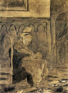 Vincent van Gogh - Old Woman Asleep - 1873