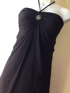 White House Black Market 100% Silk Black Braided Halter Dress    Size 0 $40  http://cgi.ebay.com/ws/eBayISAPI.dll?ViewItem=360660516200