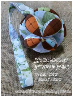 Made this Puzzle Ball for the coming addition :) Fabric Toys Diy, Diy Toys, Homemade Baby Toys, Activity Cube, Wooden Teething Ring, Baby Sensory, Applique Quilts, Sewing Projects, Diy Projects