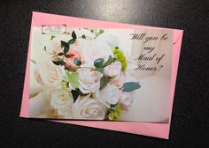 Will you be my Maid of Honor card bridesmaid by LilyLilesWeddingco  https://www.etsy.com/listing/211928974/will-you-be-my-maid-of-honor-card
