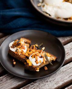 Burrata with Caramelized Squash, Pine Nuts and Golden Raisins ...