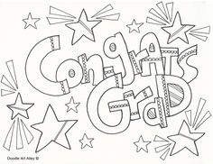 Graduation Coloring Page Education