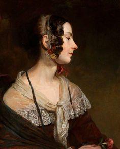 Portrait of Mrs Jessie Irvine, née Leisk (1805–1878) by John Irvine (Scottish 1805–1888)