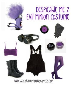 Despicable Me 2 Evil Minion Costume. so excited for halloween Evil Minion Costume, Despicable Me Costume, Minion Halloween, Halloween Costumes For Work, Minion Costumes, Hallowen Costume, Theme Halloween, Halloween 2014, Cute Costumes
