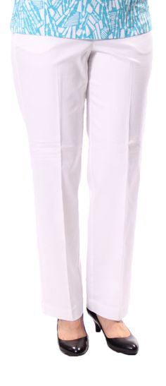 Proportioned Medium Pant in White by Alfred Dunner