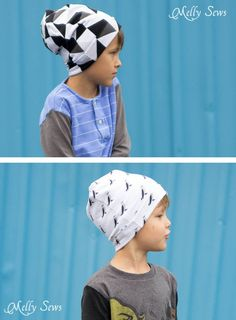 Sew kids knit hats - Sew a Beanie Hat - Make a slouchy hat in any size with this EASY tutorial - Melly Sews