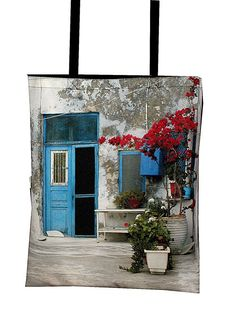 widokĂłwki z Santorini - foto torba (proj. atdesign), do kupienia w DecoBazaar.com