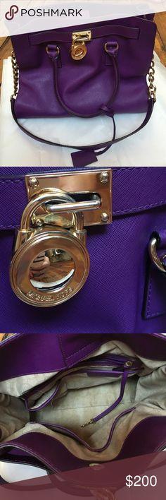 Purple and gold Michael Kors purse Excellent condition Hamilton purse Michael Kors Bags Shoulder Bags