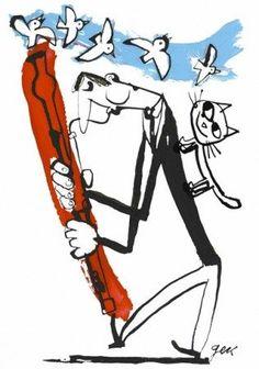 Bassoon Illistration by Gek Tessaro