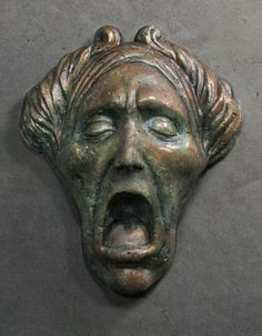 Jacob Marley Christmas Carol Ornament with copper by PulpNovelties, $18.00