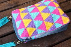 Taschenspieler 2 Sew Along | Herrentasche by stitchydoo // genähte Tasche mit gehäkelten Dreieicken // sewn bag with crochet triangle pattern // farbenmix pattern