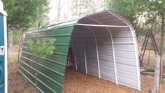 Steel siding to Shelter Logic storage shed, replaced canvas twice, will last for. Steel siding to Portable Storage Sheds, Shed Storage, Tool Storage, Shed Images, Shed Design Plans, Tarp Shelters, Steel Siding, Silo House, Horse Shelter