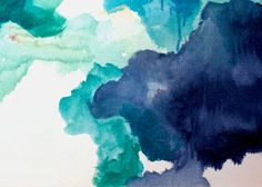 Blue Abstract Painting Print Navy Blue Art by LikeWilliamStudio, $55.00