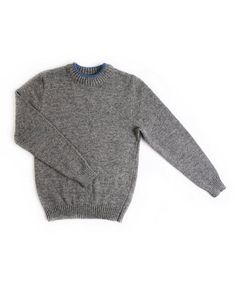 Mens Jumpers – Men's knitted lambswool round collar Jumper – a unique product by woolenfashion on DaWanda