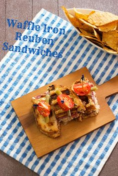 Waffle Iron Reuben Sandwiches | The Girl in the Little Red Kitchen