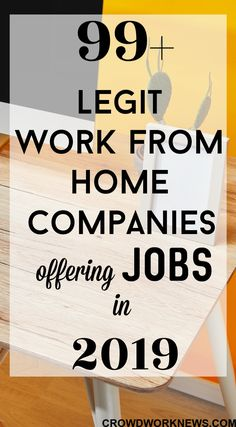 Looking for that perfect work from home job this new year? I have curated this massive list of work from home companies(by industry) to help you find the ideal online job. Click through to learn about the 99 companies which offer remote jobs. Legit Work From Home, Legitimate Work From Home, Work From Home Tips, Work At Home Jobs, Work From Home Typing, Work From Home Careers, Work From Home Companies, Work From Home Opportunities, Business Opportunities