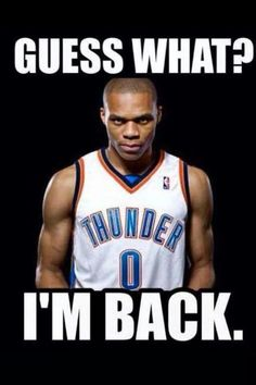 Russell Westbrook OKC Thunder will bring it back Basketball Pictures, Love And Basketball, Basketball Players, Basketball Sayings, Westbrook Okc, Russell Westbrook, Thunder Strike, Thunder Nba, Oklahoma City Thunder Basketball