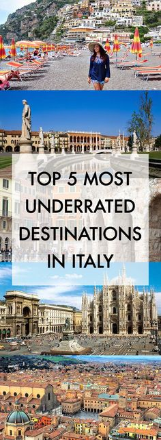 History In High Heels: Top Five Most Underrated Destinations in Italy. Do something different!